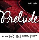 D\'Addario Bowed Jeu de cordes pour violon D\'Addario Prelude, manche 1/4, tension Medium