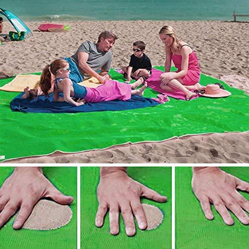 SHOP-STORY - Telo da Spiaggia Antiscivolo, Colore: Verde