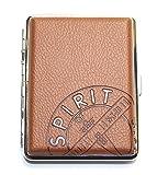 Zigarettenetui Spirit of St. Louis Luftfahrt-Design für 18 Zigaretten Braun [Versand durch Konsumany®]