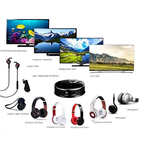 Jasnyfall Wireless 4.0 Audio Smart Music Transmitter 3,5-mm-Stereo-HiFi-Adapter Glasfaserübertragung Spielen und Stecken (Schwarz)