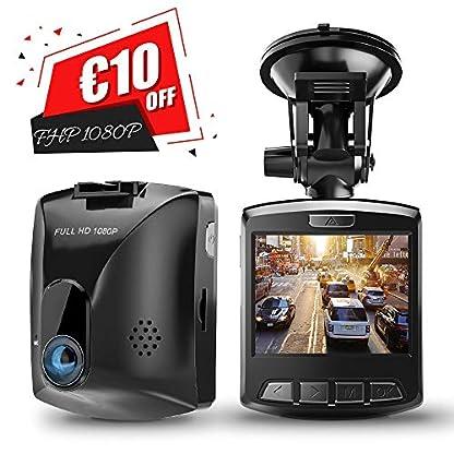 Dashcam-HD-GooDee-Auto-Kamera-FHD-1080p-mit-170-Weitwinkelobjektiv-DVR-Camcorder-G-Sensor-WDR-Bewegungserkennung-Loop-Aufnahme-berwachung-Parkmonitor