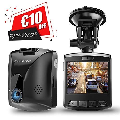Dashcam HD, GooDee Auto Kamera FHD 1080p mit 170° Weitwinkelobjektiv DVR Camcorder G-Sensor WDR Bewegungserkennung Loop-Aufnahme Überwachung Parkmonitor (Camcorder Auto)