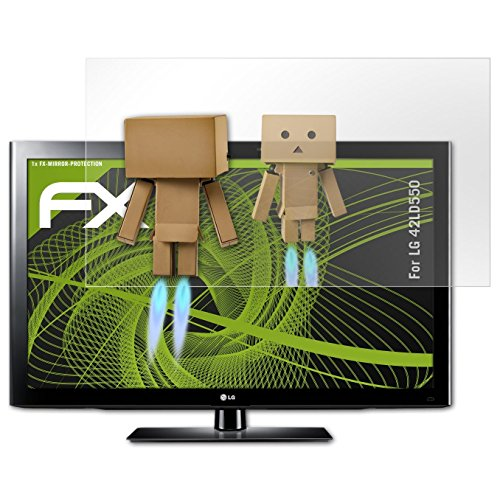 atFoliX Displayfolie kompatibel mit LG 42LD550 Spiegelfolie, Spiegeleffekt FX Schutzfolie