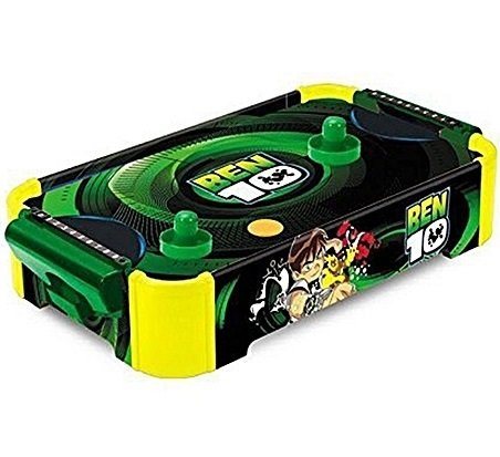 MousePotato Air Hockey Mini Table Top Hockey Game for 2 players (GREEN)