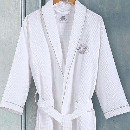 Mangeoo the hotel È puro cotone, accappatoi per uomo e donna, cotone, camicie da notte per cialde per adulti, accappatoi estivi, vestiti sottili, s, bianco perla