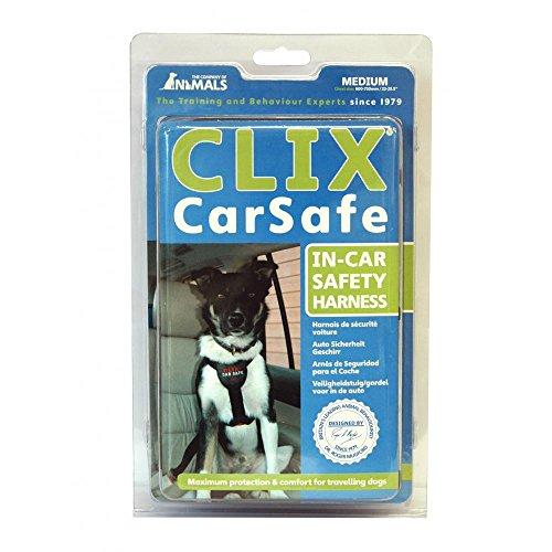 Clix Carsafe Hunde-Sicherheitsgurt (Small) (Schwarz)
