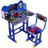 Kids Wooden Study Table In Spider Man Cartoon Printed /New Year Gift For Kids Table Nice Quality By Study Tablewala