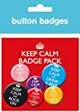 GB eye Buttons-Set, Motiv Keep Calm and Carry On