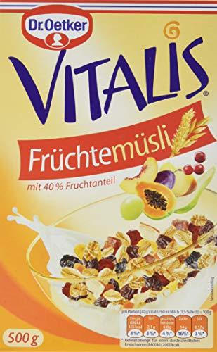 Dr. Oetker Vitalis Früchtemüsli, 4er Pack (4 x 500 g)