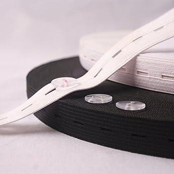 Musuntas 10,1 m Long plates Bandes élastiques avec boutonnière Cordon  élastique Bobine de fil à coudre Bandes DIY à coudre Craft Accessoires, 2  pièces, ... 3e45d803c434