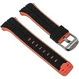 Repuesto banda reloj de pulsera banda de plástico negro/rojo compatible con Lotus Watches L15568/4L15568/todos los
