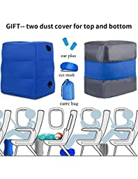 HAOBAIMEI Oreiller repose-pieds, repose-pieds gonflable Oreiller de voyage pour les enfants Dormir dans la voiture Camping Voyage en avion