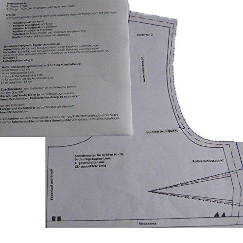 Maharanis Sari Blusen Schnittmuster Choli Lehenga Choli Gr. XS-XL mit Schritt für Schritt Anleitung XS-M (Indische Weiße Sari)