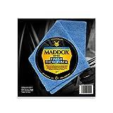 Maddox Detail 70202 Finish Microfiber-Chiffon Microfibre 40 x 40 cm, résistant et Non Pelucheux. Double Face avec Bords sans Couture, Bleu