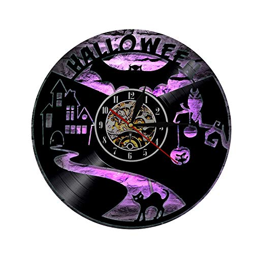 yl Record Wanduhr, LED 7 Farbe mit Fernbedienung, Give Children and Friends A Cool Gift-12 Zoll (30cm) ()