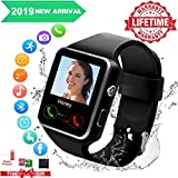 Smartwatch con Whatsapp,Bluetooth Smart Watch Pantalla táctil,Reloj Inteligente Hombre,Reloj Smartwatch, Impermeable Smartwatches Compatible Android iOS Phone X 8 7 6 Plus S9 S8 7 para Hombre Mujer