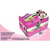 Minnie Mouse - Joyero de cartón con forma de cofre (Kids Euroswan WD17181)