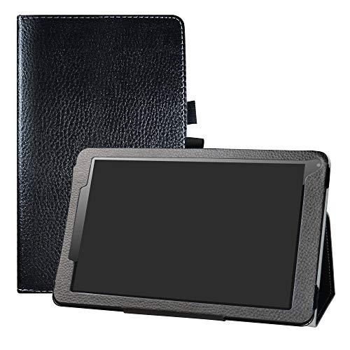 """LFDZ Odys Titan 10 LTE Hülle, Schutzhülle mit Hochwertiges PU Leder Tasche Case für 10.1\"""" Odys Titan 10 LTE Tablet,Schwarz"""