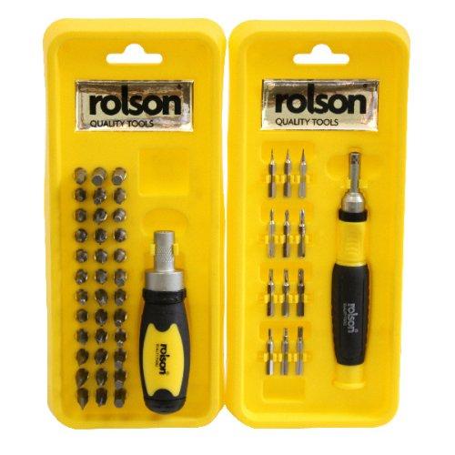 Preisvergleich Produktbild Rolson Schraubendreher- und Bitset (50-teilig)