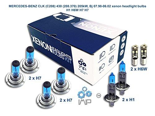 IMIP - MERCEDES-BENZ CLK (C208) 430 (208.370) | Xenon Scheinwerfer Glühlampen Super Weiß H1 H6W H7 H7