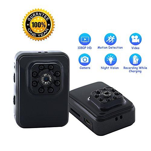 Mini Kamera Tangmi 1080P HD Tragbare Kamera Sicherheit Kamerawith Motion Detectionand 8IR LED Infrared Night Vision (Motion-detection-kamera-set)