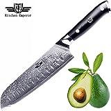 Kitchen Emperor Couteaux Santoku, Couteau Cuisine Professionnel, Damas de Santoku en...