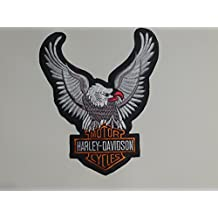 –Parche para planchar Davidson aprox. 10cm x 8cm Harley águila Eagle Shield Moto Motocicleta Club...