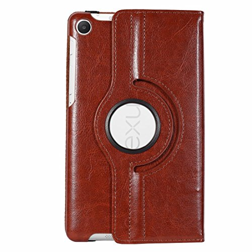 NEXUS 7 2013 cover, Stand Flip Cover 360 Degree Series PU Leather Premium 360 Degree Rotating Stand Flip Cover With auto wake sleep (Brown) 511f73l1gOL