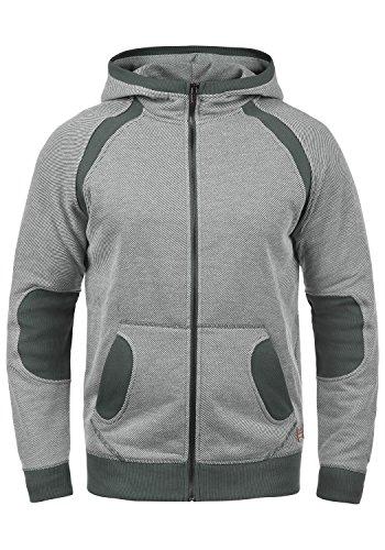 BLEND Stuart Herren Sweatjacke Kapuzen-Jacke Zip-Hoodie aus hochwertiger Baumwollmischung Meliert, Größe:M, Farbe:Castlerock Grey (75003)