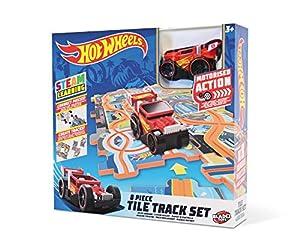 Mondo-66094 Tile Track - Juego de Pista para empotrar, Color Livrea Hot Wheels, 66094