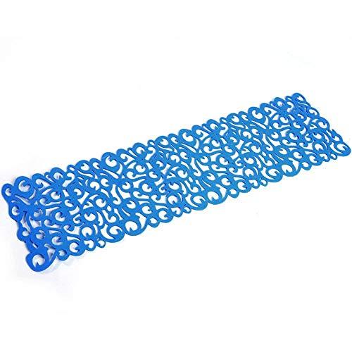 m-Fühlte Tischdecken-Läufer-Tischsets, hitzebeständige Tabellen-Matten-Haushalts-Dekorationen(Hellblau) ()