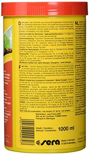 sera 00270 san 1000 ml – das Farbfutter aus schwimmenden Flocken - 3