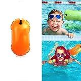 FYFY 28L Double-Balloon Snorkelling Inflatable Bag Swimming Dry Bag Waterproof Beach Bag Swim Buoy Aguas Abiertas para Abierto Agua Nadadores Entrenamiento o competición con Bolsa Seca