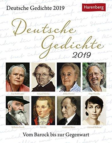 Deutsche Gedichte - Kalender 2019: Vom Barock bis zur Gegenwart