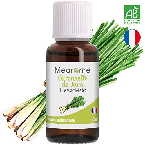 Huile Essentielle de Citronnelle de Java Bio Mearome - 30 ml - 100% Pure et Naturelle...
