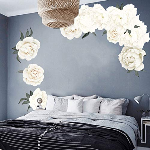 Rose Blumen Wandkunst Aufkleber Aufkleber Kinderzimmer Kinderzimmer Home Decor Geschenk Teenager Lila Bordüre Bäume Mr Sport Anker Harry Urwald ()