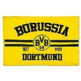 Borussia Dortmund BVB 17130500 Hissfahne 150x100cm mit Logo/Schriftzug Schwarz/gelb 150 x 100 x 1 cm