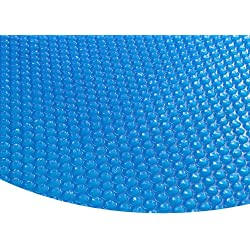 Zelsius Runde Solarfolie Poolheizung Solarplane, blau - 400µ - 3,6 Meter Durchmesser