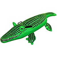 LARGE INFLATABLE CROCODILE Kids Float Swimming Fun Blow Up Toy Beach 150cm UK