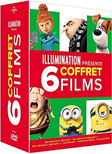 Illumination présente-Coffret 6 Films : Moi Moche et Méchant 1 à 3 + Les Minions + comme des...