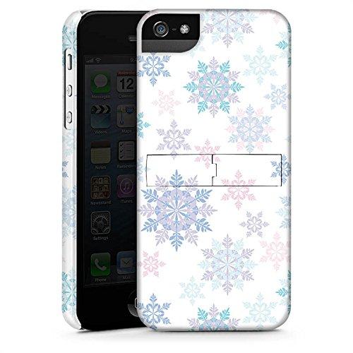 Apple iPhone X Silikon Hülle Case Schutzhülle Frost Schneeflocken Winter Premium Case StandUp