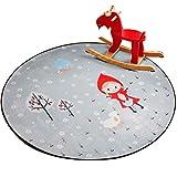 Rund 80 CM Kinder Teppiche Spielteppich Stuhlkissen Drehstuhl -Kissen A11
