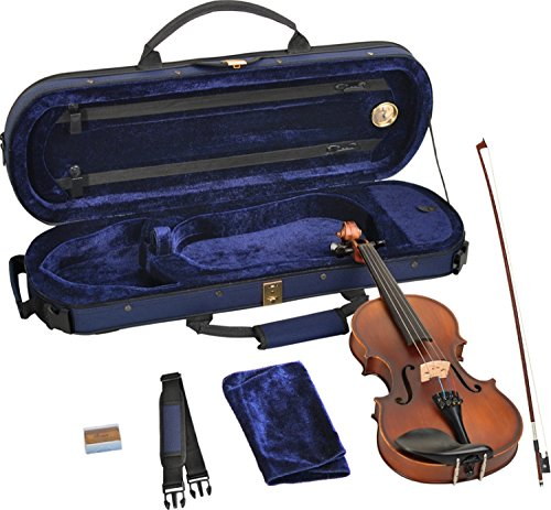 SB 1/4 violino in ebano raccordi SET essere fiammato piano THOMASTIK DOMINANT STRINGS