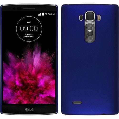PhoneNatic Case kompatibel mit LG G Flex 2 - Hülle blau gummiert Hard-case + 2 Schutzfolien (Lg 2 Cover Flex)