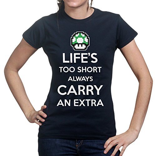 Life's Too Short Funny Mario Mushroom Ladies T shirt