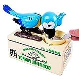 Zantec Strom essen Papagei Vogel Sparschwein blau (ohne Batterie)