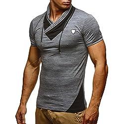 Leif NelsonLN805 –Camiseta ajustada para hombre antracita small