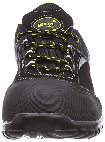 Gevavi  GS37 HAWK WRKS S1P LG, Chaussures de sécurité mixte adulte Noir - Schwarz (Schwarz(Zwart) 00)