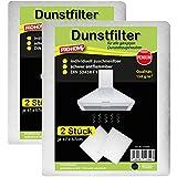 Dunstfilter im 4er Pack Dunstabzugshaubenfilter Fettfilter Filter Basic Qualität 100 g/m² oder Premium Qualität 150 g/m² ( Premium Qualität 150 g/m² )