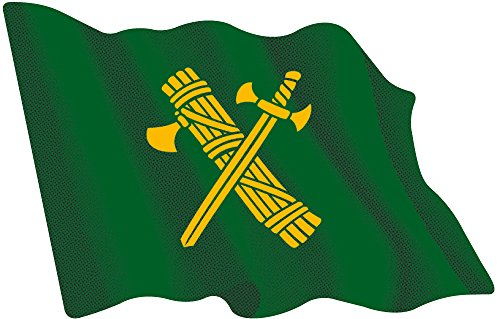 Artimagen Pegatina Bandera ondeante Guardia Civil